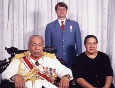 Their Majesties, King Taufa'ahau Tupou IV and Queen Mata'aho with Doma-Miko